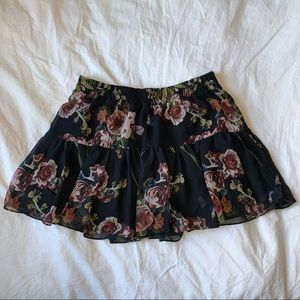 black floral Garage women's skirt